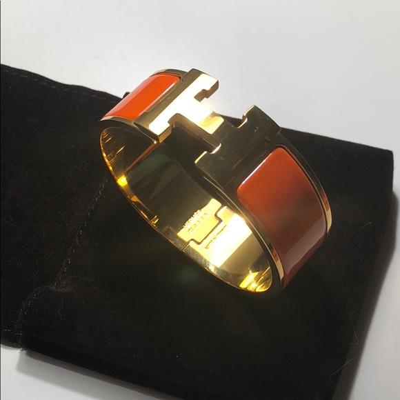 Hermes Jewelry   Clic Clac H Bracelet   Poshmark e47c37c16f5